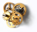 Photo : Old clock mechanism watch  diamond
