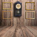 Old clock and picture frame Royalty Free Stock Photo