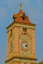 Old clock tower in central part of ahmadabad gujarat Royalty Free Stock Images