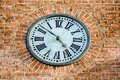 old clock on the wall, in Sweden Scandinavia North Europe Royalty Free Stock Photo