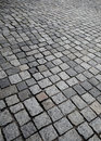 Old cobble stone street texture or background Stock Photo