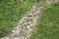 Old cobblestone road in park Royalty Free Stock Photo