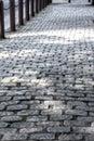 Old Cobblestone Sidewalk in Philadelphia Royalty Free Stock Photo
