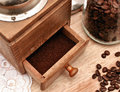 Old coffee grinder ground coffee bean coffee Royalty Free Stock Images