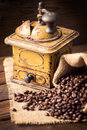 Old coffee mill and Royalty Free Stock Images