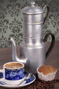 Old coffee pot still life with an Royalty Free Stock Images