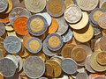 Old coins collection of the circulated Royalty Free Stock Photography