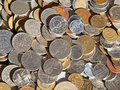 Old coins collection of the circulated Royalty Free Stock Images