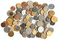 Old coins collection of the circulated Royalty Free Stock Image