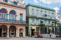 Old colonial buildings in Plaza Armas, Havana, Cuba Royalty Free Stock Photo