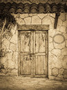 Old colonial doors of mexican hacienda Royalty Free Stock Photo