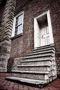 Old Colonial Historic Brick Building Steps to Door Royalty Free Stock Photography