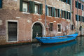 Apartments on a canal, Venice, Italy Royalty Free Stock Photo