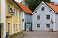 Old Colorful buildings. Vadstena. Sweden Royalty Free Stock Photo