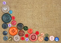 Old colorful buttons Royalty Free Stock Photography