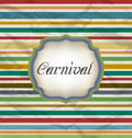 Old colorful card with advertising header for carnival illustration Stock Photography