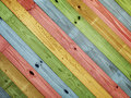 Old colorful painting wood Royalty Free Stock Photo