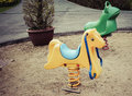Old colorful seesaw
