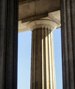 Old columns in front of blue sky Royalty Free Stock Photo