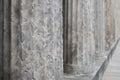 Old columns historic architecture , pillars closeup Royalty Free Stock Photo