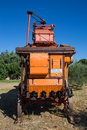 Old combine harvester Royalty Free Stock Photo