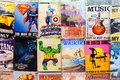 Old Comics and signs for sale at a Waikiki Market Stall Royalty Free Stock Photo