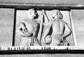 Old communist relief ruzomberok slovakia march on the facade of the school building on march in ruzomberok Royalty Free Stock Photos