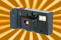 Old compact vintage camera against white background clipping path included to replace Stock Images