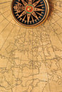 Old compass and map Royalty Free Stock Photography