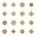 Old compass or ocean, sea navigation wind rose Royalty Free Stock Photo