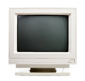 Old computer monitor vintage crt on white background Royalty Free Stock Photos