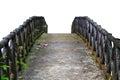 Old concrete bridge. Isolated on white background. Royalty Free Stock Photo