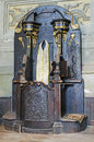 Old confessional Royalty Free Stock Image