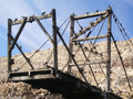 An Old Construction for Guano Collectors on the Ballestas Islands, Peru Royalty Free Stock Photo