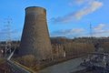 Old cooling tower view outside of an Stock Image