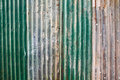 Old corrugated metal wall Royalty Free Stock Photo