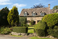 Old cotswold stone house in Icomb Stock Photos