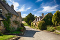 Old cotswold stone houses in Icomb Royalty Free Stock Photo