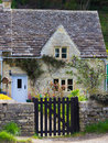 Old cottage bibury gloucestershire cotswolds uk a picturesque historic in the tourist destination of Stock Photos