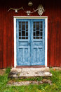 Old cottage door Royalty Free Stock Photo