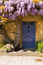 Old cottage entrance door Royalty Free Stock Photo