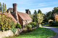 Old cottage with lovely chimneys milford surrey england uk Royalty Free Stock Photography