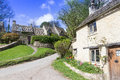 Old cottages bibury gloucestershire cotswolds uk picturesque historic in the tourist destination of Stock Photos