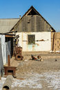 Old country house farm kazakhstan Stock Images