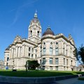 Old courthouse this is a summer picture of the vanderburgh county located in evansville indiana the was designed by Stock Images