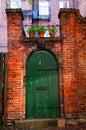 Old courtyard doorway Royalty Free Stock Photo