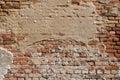 Old cracked brick wall Royalty Free Stock Photo