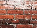 Old cracked dark red brick wall background texture for wallpaper. Royalty Free Stock Photo