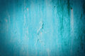 Old cracked painted texture rusty blue wood grunge background Stock Photography