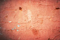 Old cracked painted texture rusty metal surface red Royalty Free Stock Photography
